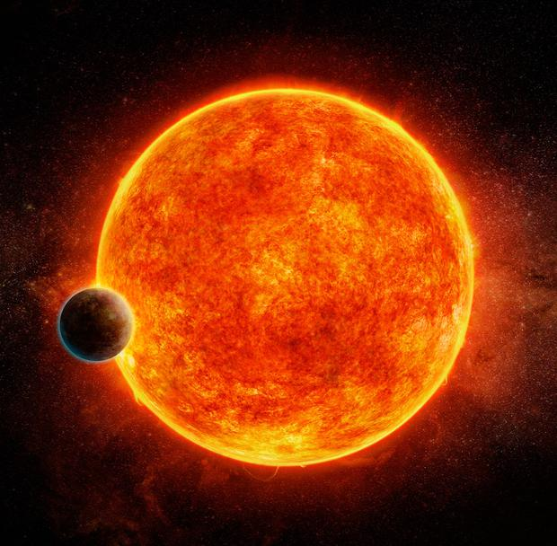 An artist's impression of the 'super-Earth' Picture: PA
