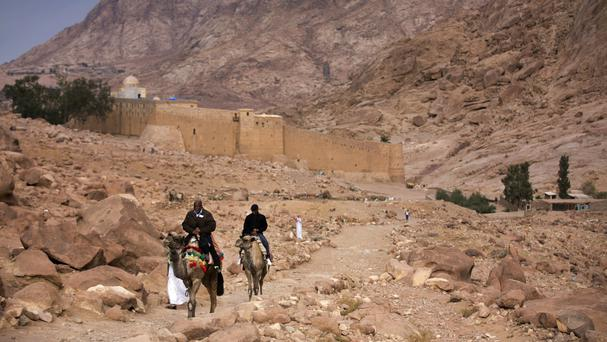 Islamic State has said it carried out the earlier attack on a police checkpoint near the famed Saint Catherine's Monastery (Hiro Komae/AP)