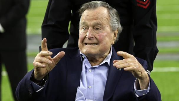 Former President George HW Bush is recovering from pneumonia (AP Photo/Eric Gay)