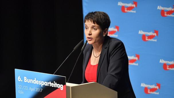 Frauke Petry speaks at the party convention of Germany's nationalist party AfD (AP/Martin Meissner)
