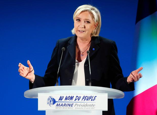 Marine Le Pen came second in the first round of voting. Photo: AP