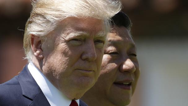 US President Donald Trump and Chinese President Xi Jinping (AP Photo/AlexBrandon, File)