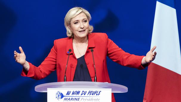 Marine Le Pen has said in the past that she is not a candidate of her party (AP)
