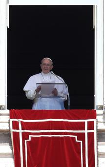 Pope Francis in Rome at the weekend. Photo: Reuters
