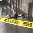 The tourist was taken to hospital when the hammock fell from a building, police said (ABC 7 Eyewitness News/AP)