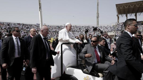Monday's drive-by attack came two days after Pope Francis ended a historic visit to Egypt (AP)