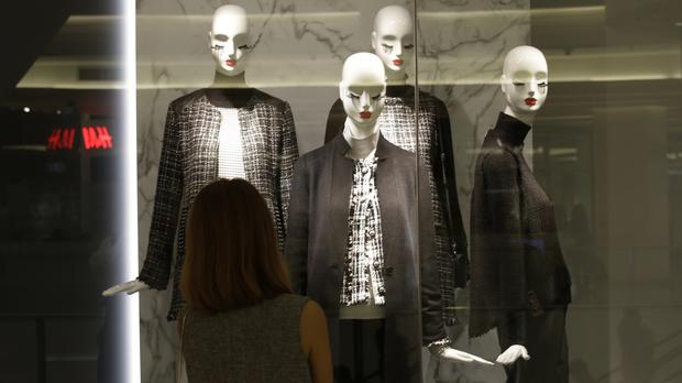 The mannequins used to advertise female fashion are too thin and may be promoting unrealistic body ideals. (AP)