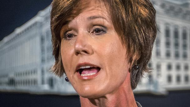 Former acting attorney general Sally Yates is expected to give evidence to Congress on May 8 (AP)