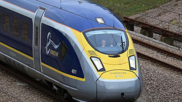 The Eurostar train was heading to London