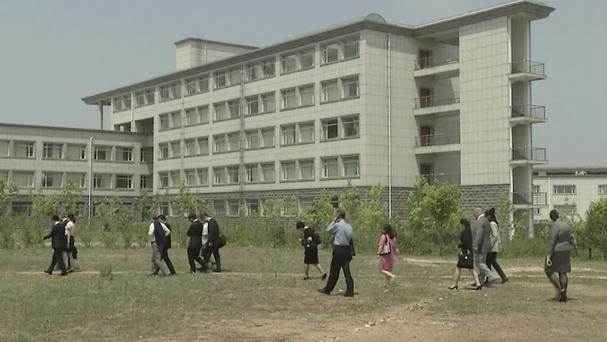 The Pyongyang University of Science and Technology. (AP)