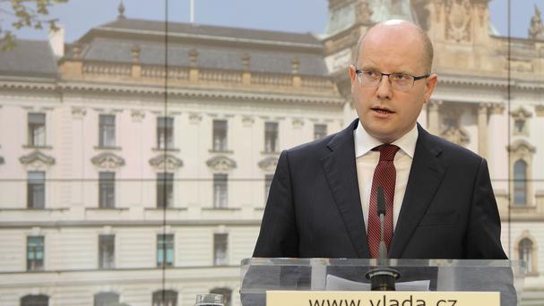Czech prime minister Bohuslav Sobotka had said his government would resign by the end of May (AP/CTK/Ondrej Deml)