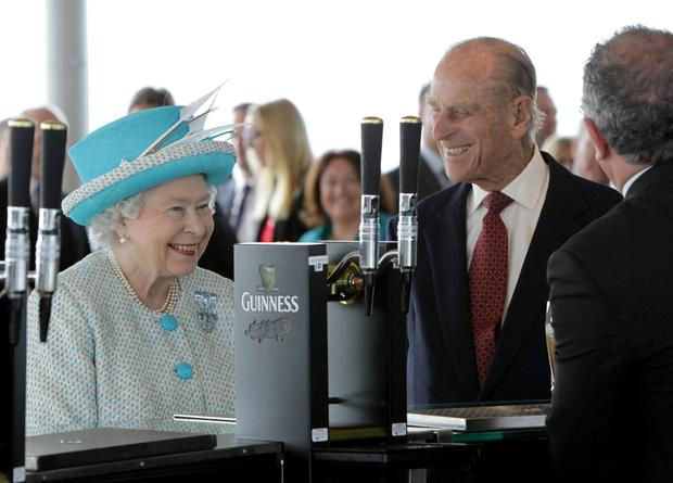 Queen Elizabeth and Prince Philip at the Guinness Storehouse, in Dublin in 2011. Photo: Reuters