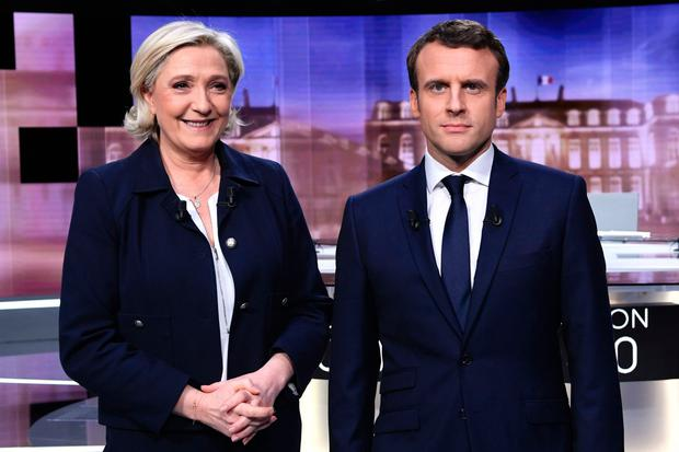 fight to the finish: The far-right presidential candidate Marine Le Pen did best in the north-eastern rust belt in the first round of voting, whilst the centrist Emmanuel Macron picked up more votes in prosperous western areas
