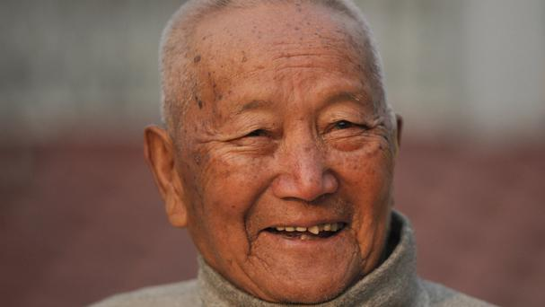 Min Bahadur Sherchan, 85, died attempting to regain his title as the oldest person to scale Mount Everest (AP)