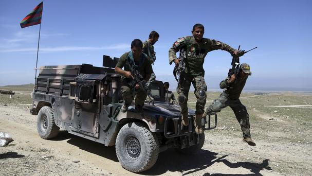 Afghan special forces carried out the raid along with US troops (AP)