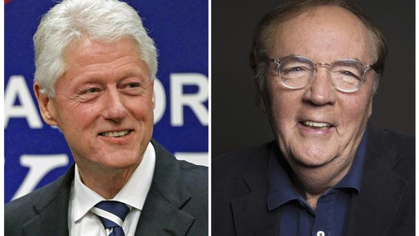 Bill Clinton, left, and author James Patterson (AP/Alex Brandon, left, and Taylor Jewell)