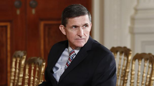 Michael Flynn at the White House in Washington (AP /Carolyn Kaster)