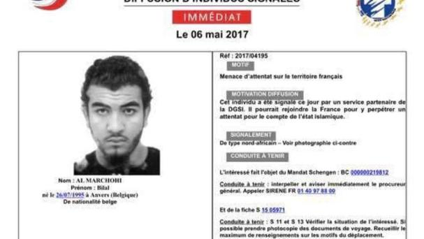 Bilal Al Marchohi, from Belgium, is wanted by French police (AP)
