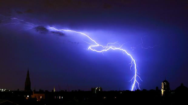 Thunder and lightning storms. Stock photo