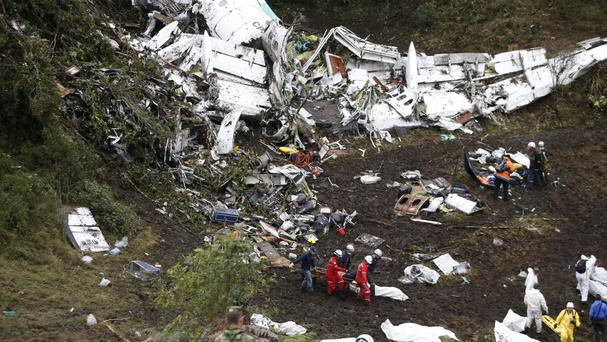 The plane crashed into the Colombian mountainside last year