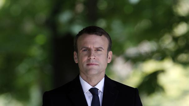 Emmanuel Macron will be France's youngest president when he takes power on Sunday (AP)