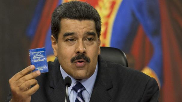 There was no immediate comment from Nicolas Maduro or Venezuela's government (AP)