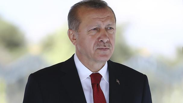 Recep Tayyip Erdogan is heading to the US for talks (Presidency Press Service via AP)