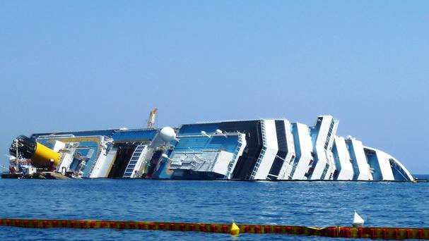 The wreck of the Costa Concordia as the captain loses his final appeal against jail.