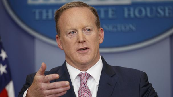 White House press secretary Sean Spicer, as President Trump floats the idea of doing away with briefings. (AP)