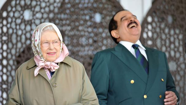 The Queen and the King of Bahrain Hamad bin Isa Al Khalifa attended the Windsor Horse Show