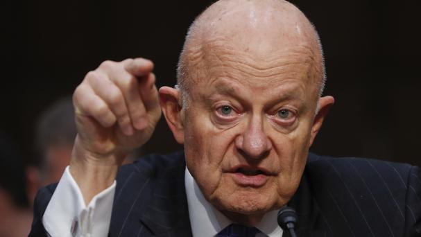 Former US national intelligence director James Clapper has said US democracy is being threatened by Donald Trump (AP)