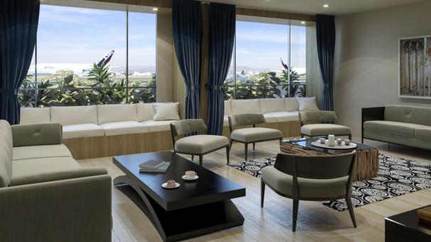 A private lounge at the new facility at Los Angeles International Airport (The Private Suite at LAX via AP)