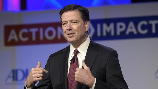 Former FBI director James Comey (AP)