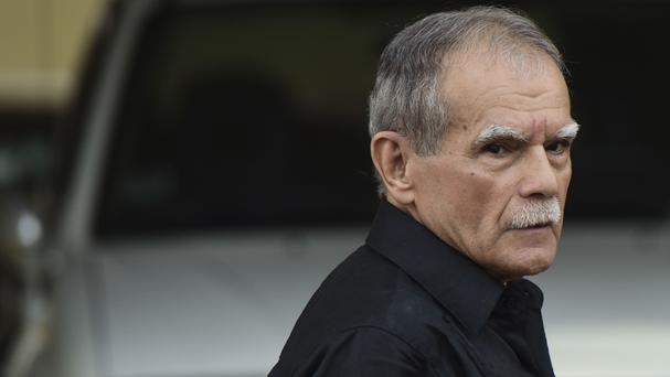Puerto Rican nationalist Oscar Lopez Rivera is released from home confinement. (AP/Carlos Giusti)
