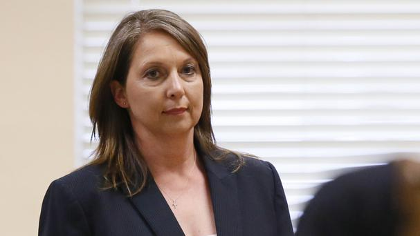 Betty Shelby in the courtroom in Tulsa (AP)