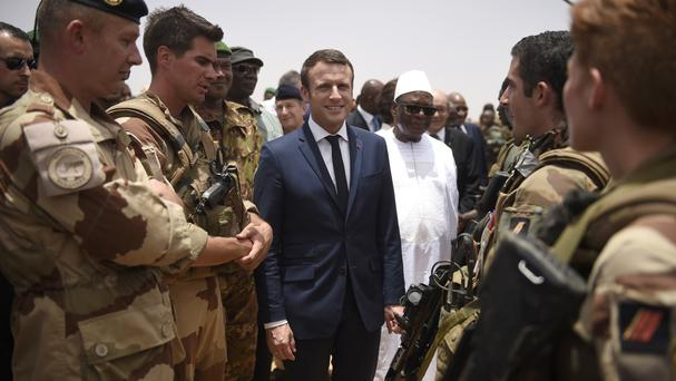 Macron's first non-Europe trip focuses on fighting extremism