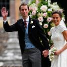 Pippa and her husband James Matthews Picture: PA