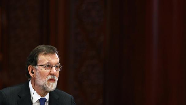 Mr Rajoy said he would not allow the Catalan president's move to go ahead (AP)