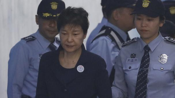 South Korea's Park denies charges as corruption trial begins
