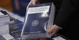 Copies of President Donald Trump's fiscal 2018 federal budget (AP)