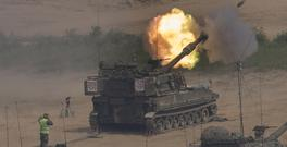 South Korean army artillery near the border with North Korea (Yonhap/AP)
