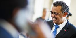 Dr Tedros Adhanom Ghebreyesus, from Ethiopia, is the new WHO chief (Valentin Flauraud/Keystone via AP)
