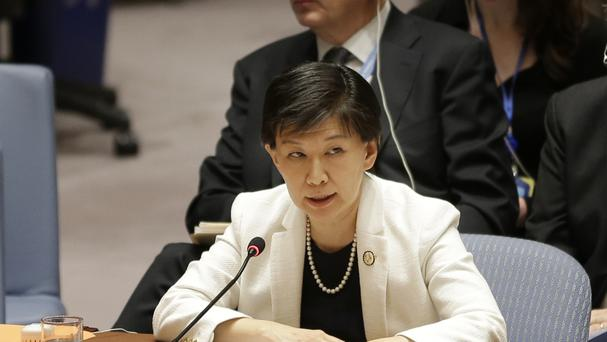 United Nations High Representative for Disarmament Affairs, Izumi Nakamitsu, speaks during a Security Council meeting on Syria at U.N. headquarters (AP)