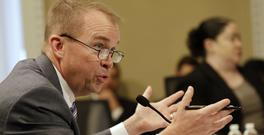 Budget director Mick Mulvaney testifies on Capitol Hill in Washington. (AP/Jacquelyn Martin)