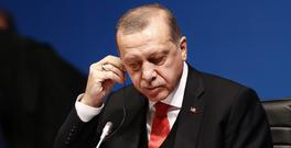 Turkey's President Recep Tayyip Erdogan has hit out at the EU. (AP/Lefteris Pitarakis)
