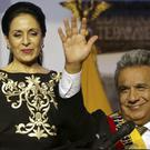 Ecuador's President Lenin Moreno and his wife Rocio Gonzalez greet wellwishers in Quito (AP)