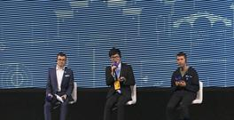 Go player Ke Jie, centre, speaks at a press conference after playing a match against Google's artificial intelligence program, AlphaGo (AP Photo/Peng Peng)