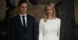 Jared Kushner and his wife Ivanka Trump during a visit to Jerusalem (AP)