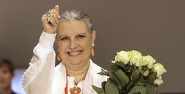 Italian fashion designer Laura Biagiotti, who has died aged 73 (AP/Luca Bruno)