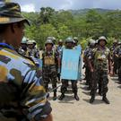 Sri Lanka troops train for UN peacekeeping deployment (AP Photo/Eranga Jayawardena)